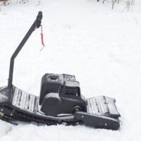 Мотосноуборд_мото сноуборд снайк_моторизованный сноуборд Snike_электро сноуборд_электрчиеский сноуборд_power snowboard_mattracks_power board_black daimond_0