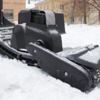 Мотосноуборд_мото сноуборд снайк_моторизованный сноуборд Snike_электро сноуборд_электрчиеский сноуборд_power snowboard_mattracks_power board_black daimond_3